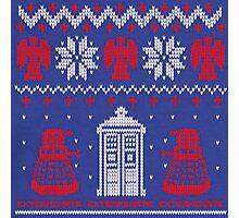 Doctor who Christmas TARDIS design  Photographic Print