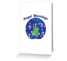 Angel Blessings Snow Globe Greeting Card
