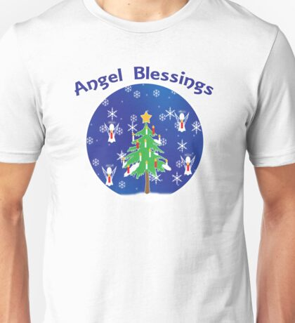 Angel Blessings Snow Globe Unisex T-Shirt