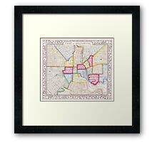 Vintage Map of Downtown Baltimore (1860) Framed Print