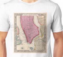 Vintage Map of Lower New York City (1860) Unisex T-Shirt