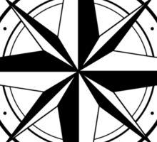 True North Compass Nautical Love Sticker
