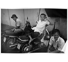Moto-Men - Saigon, Vietnam Poster