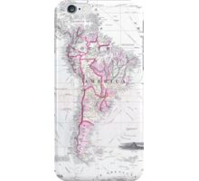 Vintage Map of South America (1861) iPhone Case/Skin