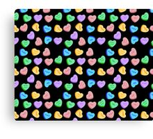 NO - Unhappy Valentines day repeating pattern Canvas Print