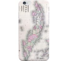 Vintage Map of Cuba (1861) iPhone Case/Skin