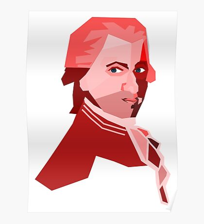 Mozart (Low Poly Art) Poster