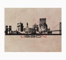 Lisbon elegant skyline Kids Tee