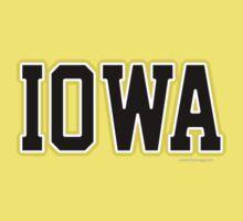 Iowa Jersey Black Kids Clothes