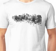 Kansas City skyline in black watercolor Unisex T-Shirt