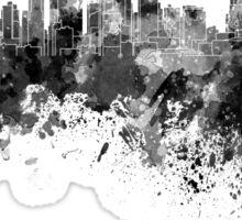 Kansas City skyline in black watercolor Sticker