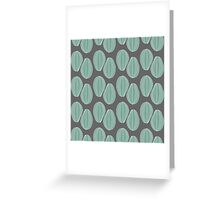 Vintage pattern in gray colors. Greeting Card