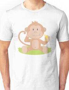 Cartoon Baby Monkey Unisex T-Shirt