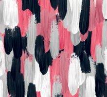 Pink, Gray, and Blue Brushstrokes Abstract Sticker