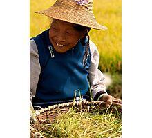 Straw Hat Smile - Dali, China Photographic Print