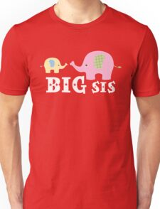 Big Sister Cute Elephant Pet Animal Lover Unisex T-Shirt