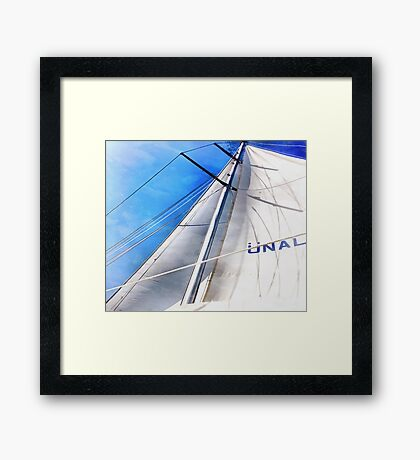 Keep The Wind In Your Sails Framed Print