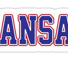 Kansas Jersey Blue Sticker