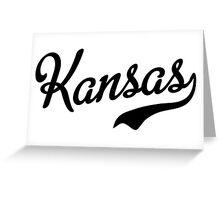 Kansas Script Black Greeting Card