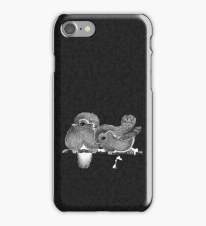 Feathered Friends with Charcoal iPhone Case/Skin