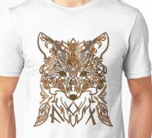 Ornamental tribal style fox silhouette Unisex T-Shirt