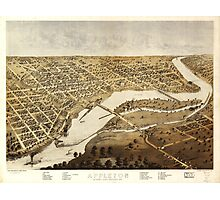 Aerial View of Appleton, Outagame County, Wisconsin (1867) Photographic Print