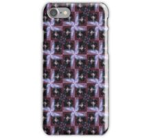 rosebud in the snow 3, tinted, red starry pattern iPhone Case/Skin