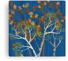 Mossy Woods - Blue Canvas Print