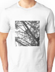 Blue tit in black and white Unisex T-Shirt