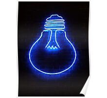 Blue Neon  Poster