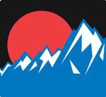 I'D RATHER BE Skiing Mountain Mountains ID SKI Skis Silhouette Snowboard Snowboarding Sticker