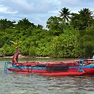 Paddling Canoe - Pohnpei, Micronesia by Alex Zuccarelli