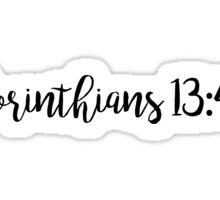 1 Corinthians 13: 4-8 Sticker