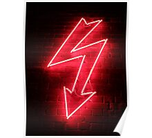 Red Neon Poster