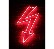 Red Neon Photographic Print