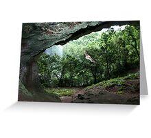 Pahntakai Bat Cave - Pohnpei, Micronesia Greeting Card