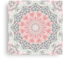 Olive Beige Fawn Mandala Canvas Print
