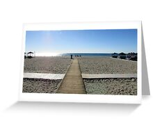 EMPTY BOARDWALKS. Greeting Card