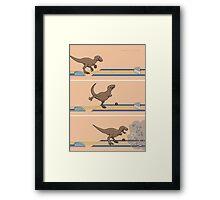 Tyrannosaurus Rex - Bowling Kingpin Framed Print