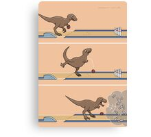 Tyrannosaurus Rex - Bowling Kingpin Canvas Print