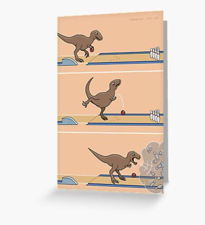 Tyrannosaurus Rex - Bowling Kingpin Greeting Card