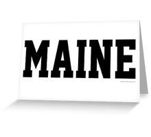 Maine Jersey Black Greeting Card