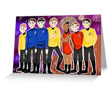 These are the voyages of the Starship Enterprise Greeting Card