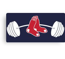 Red Sox barbell shirt Canvas Print