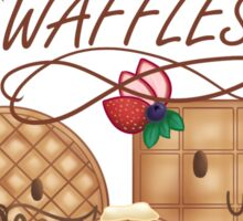 Weekends are for Waffles! Sticker