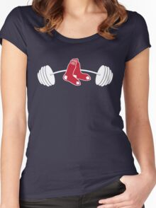 Red Sox barbell shirt Women's Fitted Scoop T-Shirt
