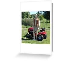 Perfect Lawn Boy Greeting Card