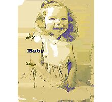 Sketch art of a tyke Photographic Print