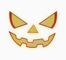 Scary Halloween Horror Pumpkin Face One Piece - Short Sleeve