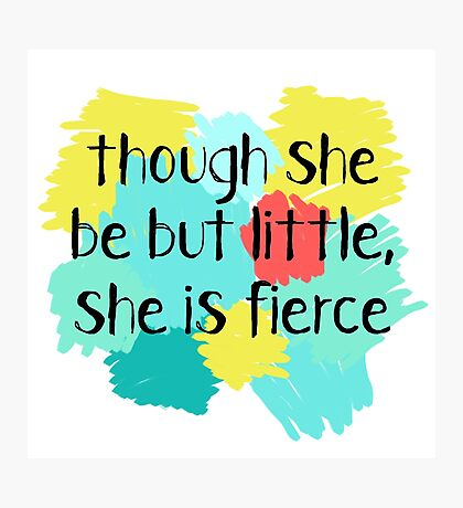 Shakespeare - little and fierce!  Photographic Print